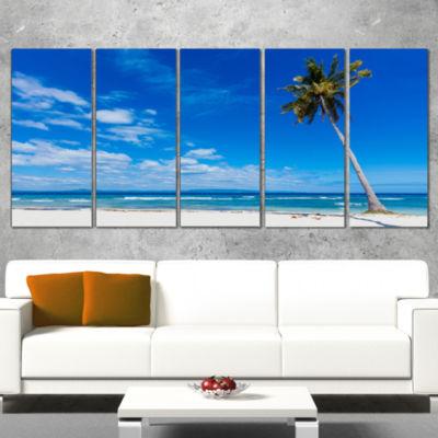 Designart Calm Summer Vacation Beach PhilippinesModern Seascape Wrapped Canvas Artwork - 5 Panels