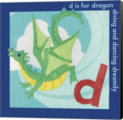 Metaverse Art D is For Dragon Canvas Wall Art