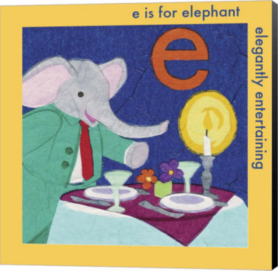 Metaverse Art E is For Elephant Canvas Wall Art