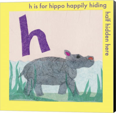 Metaverse Art H is For Hippo Canvas Wall Art - JCPenney