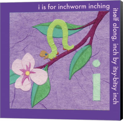 Metaverse Art I is For Inchworm Canvas Wall Art