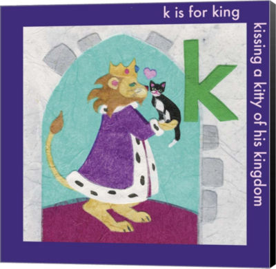 Metaverse Art K is For King Canvas Wall Art