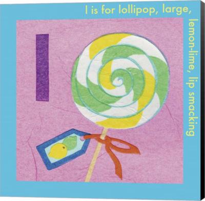 Metaverse Art L is For Lollipop Canvas Wall Art