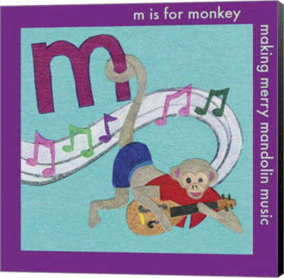Metaverse Art M is For Monkey Canvas Wall Art