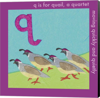 Metaverse Art Q is For Quail Canvas Wall Art