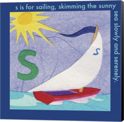Metaverse Art S is For Sailing Canvas Wall Art
