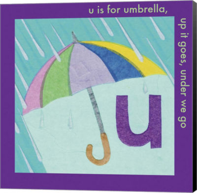 Metaverse Art U is For Umbrella Canvas Wall Art