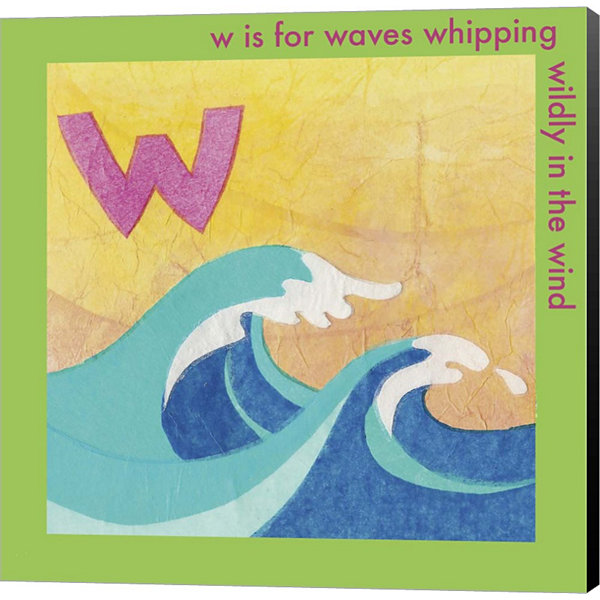 Metaverse Art W is For Wave Canvas Wall Art