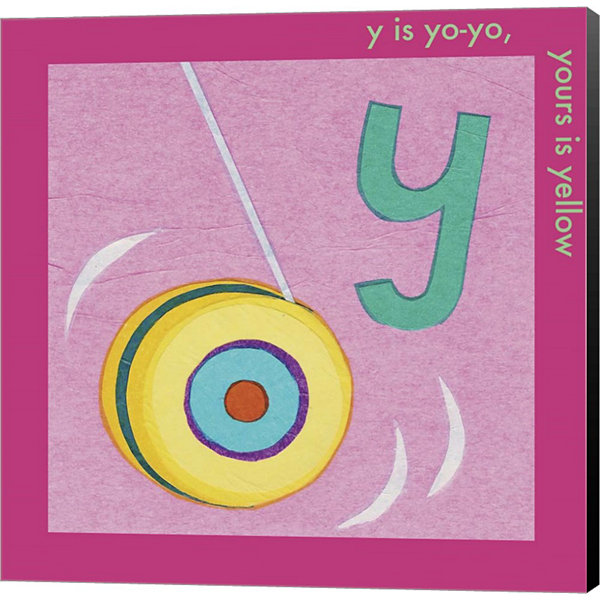 Metaverse Art Y is For Yoyo Canvas Wall Art