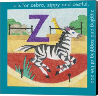 Metaverse Art Z is For Zebra Canvas Wall Art