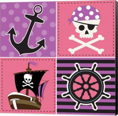 Metaverse Art Ahoy Pirate Girl II Canvas Wall Art