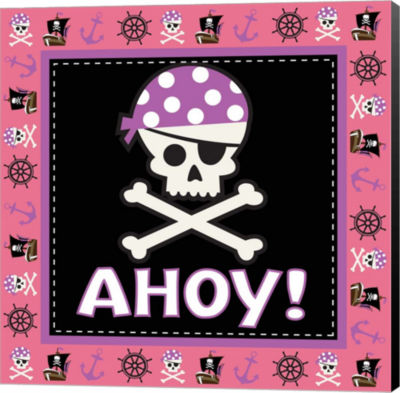 Metaverse Art Ahoy Pirate Girl III Canvas Wall Art