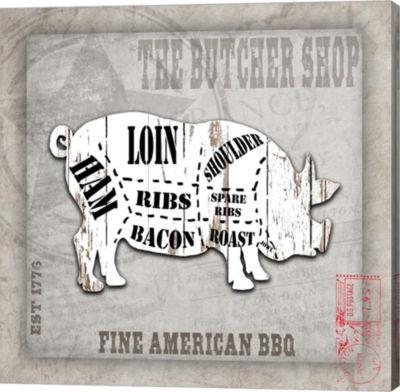 Metaverse Art American Butcher Shop Canvas Wall Art