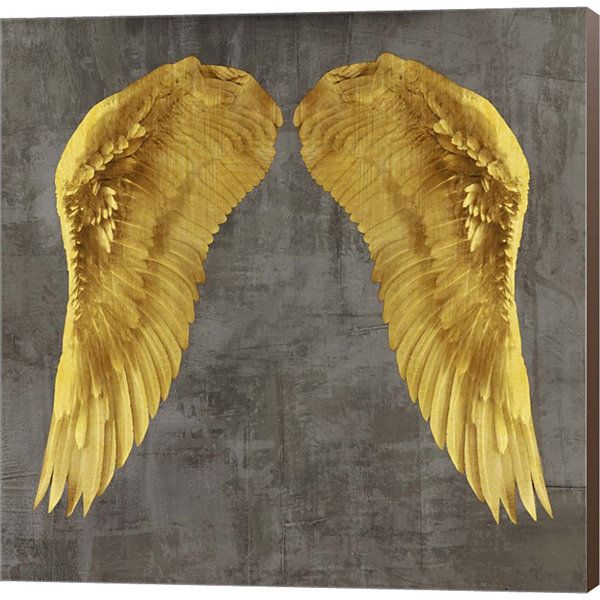 Metaverse Art Angel Wings I Canvas Wall Art