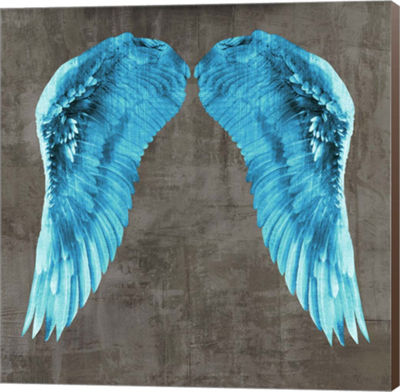Metaverse Art Angel Wings V Canvas Wall Art