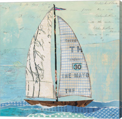 Metaverse Art At the Regatta III Sail Sq Canvas Wall Art