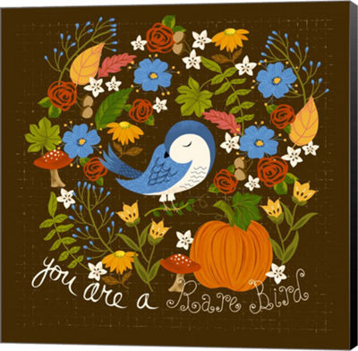 Metaverse Art Autumn Bird Canvas Wall Art