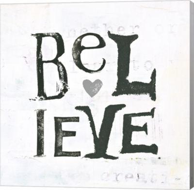 Metaverse Art Believe Gray Hearts Canvas Wall Art