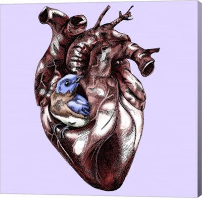 Metaverse Art Birdie In My Heart Canvas Wall Art