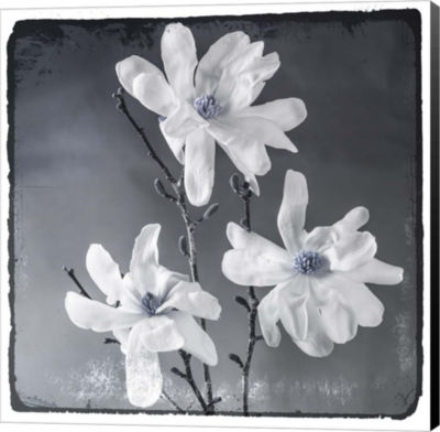 Metaverse Art Blue Magnolia 2 Canvas Wall Art