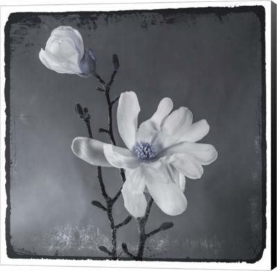 Metaverse Art Blue Magnolia Canvas Wall Art