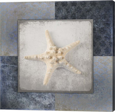 Metaverse Art Blue Star Fish 3 Canvas Wall Art