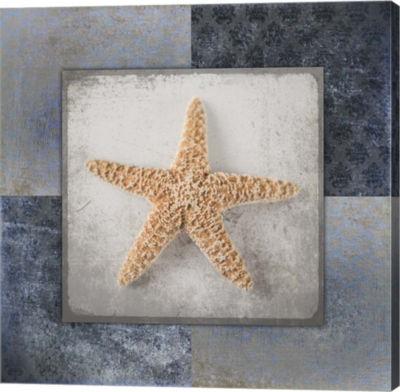 Metaverse Art Blue Star Fish Canvas Wall Art