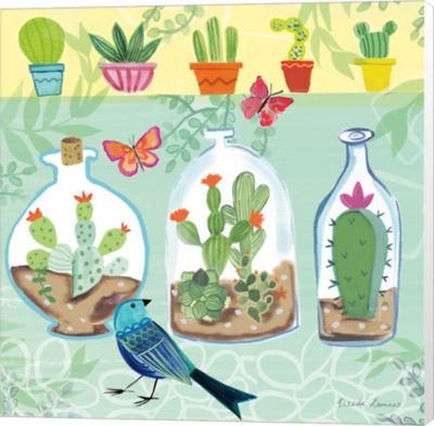 Metaverse Art Cacti Garden I Canvas Wall Art