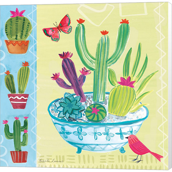 Metaverse Art Cacti Garden III Canvas Wall Art