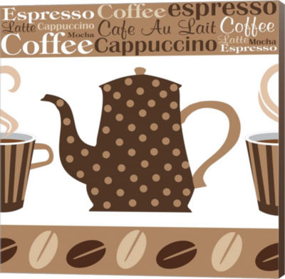Metaverse Art Cafe Au Lait Cocoa Latte II Canvas Wall Art