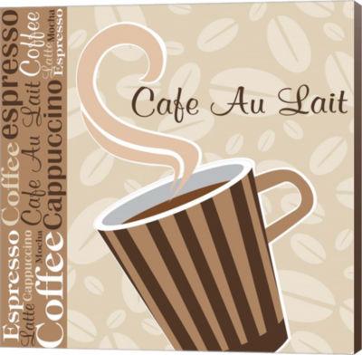Metaverse Art Cafe Au Lait Cocoa Latte IX Canvas Wall Art