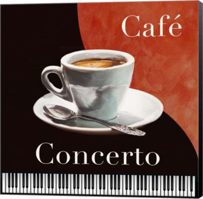 Metaverse Art Cafe Concerto Canvas Wall Art