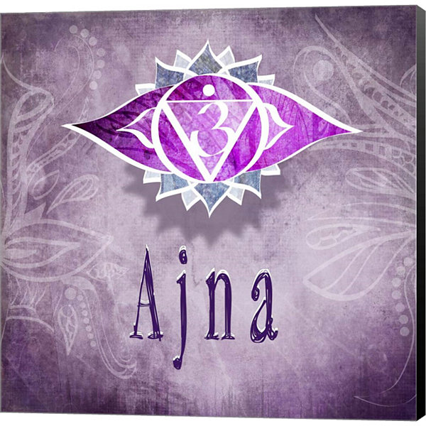 Metaverse Art Chakras Yoga Ajna V3 Canvas Wall Art