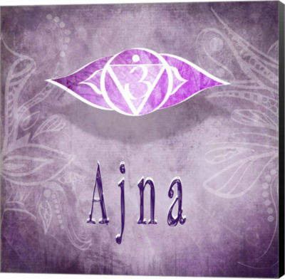 Metaverse Art Chakras Yoga Ajna V4 Canvas Wall Art