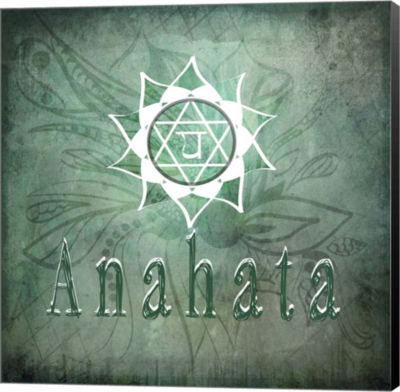 Metaverse Art Chakras Yoga Anahata V1 Canvas WallArt