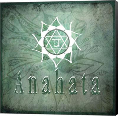 Metaverse Art Chakras Yoga Anahata V2 Canvas WallArt