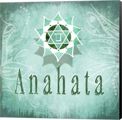 Metaverse Art Chakras Yoga Anahata V3 Canvas WallArt