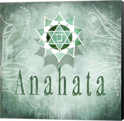 Metaverse Art Chakras Yoga Anahata V4 Canvas WallArt