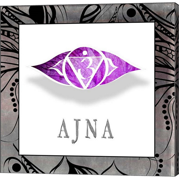 Metaverse Art Chakras Yoga Framed AJNA V1 Canvas Wall Art