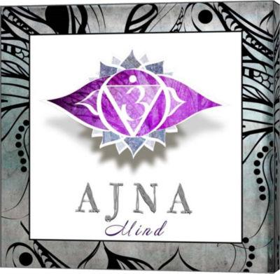 Metaverse Art Chakras Yoga Framed AJNA V3 - Mind Canvas Wall Art