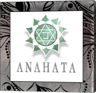 Metaverse Art Chakras Yoga Framed Anahata V1 Canvas Wall Art