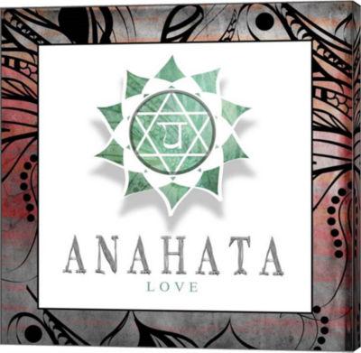 Metaverse Art Chakras Yoga Framed Anahata V2 Canvas Wall Art
