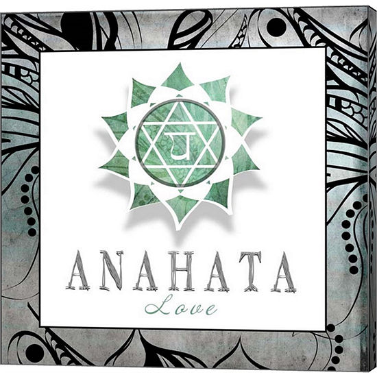 Metaverse Art Chakras Yoga Framed Anahata V3 Canvas Wall Art