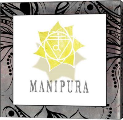 Metaverse Art Chakras Yoga Framed Manipura V1 Canvas Wall Art