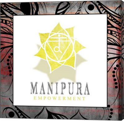 Metaverse Art Chakras Yoga Framed Manipura V2 Canvas Wall Art