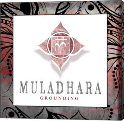 Metaverse Art Chakras Yoga Framed Muladhara V2 Canvas Wall Art