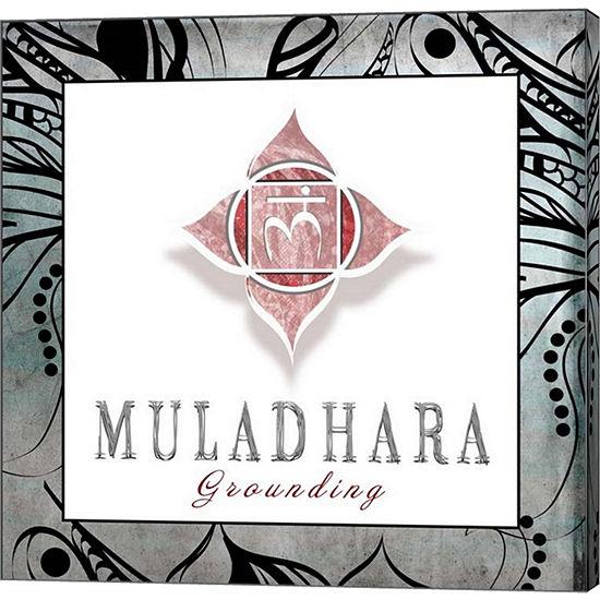 Metaverse Art Chakras Yoga Framed Muladhara V3 Canvas Wall Art