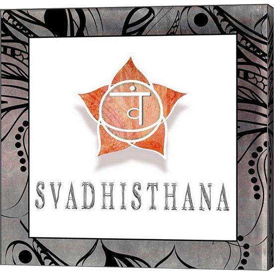Metaverse Art Chakras Yoga Framed Svadhisthana V1Canvas Wall Art
