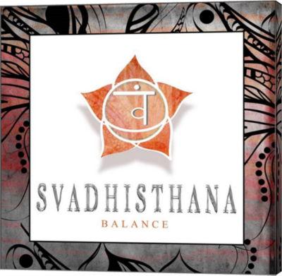 Metaverse Art Chakras Yoga Framed Svadhisthana V2Canvas Wall Art