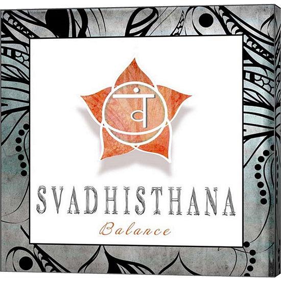 Metaverse Art Chakras Yoga Framed Svadhisthana V3Canvas Wall Art